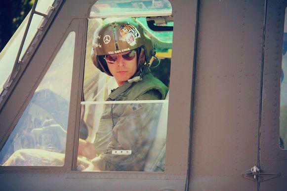 Filip De Cooman uit Vleteren kocht een Amerikaanse helikopter uit de Vietnamoorlog. Al van jongs af is hij gefascineerd door oorlogen.