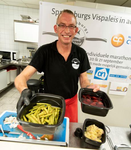 Arnhemse visboer Piet verbreekt wereldrecord voedselbereiding en slaapt nu bij