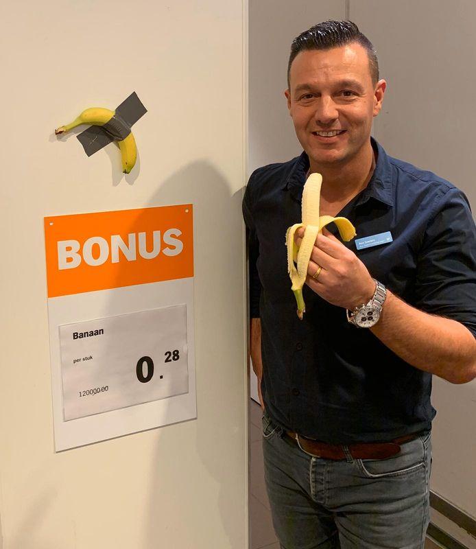 Banaan in de bonus bij de Albert Heijn in Den Bosch van 120.000 euro voor 0,28 cent
