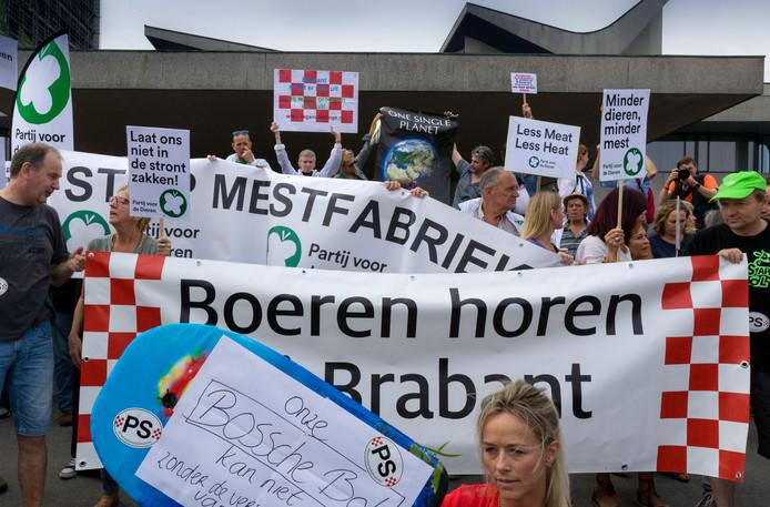 Archieffoto van het boerenprotest in 2017.