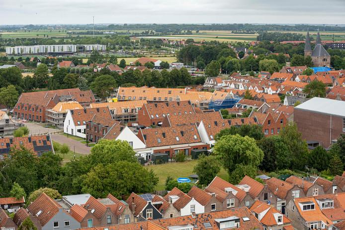 De derde en laatste fase van de nieuwbouw in de wijk Buzee in Zierikzee heeft z'n hoogste punt bereikt. De 44 woningen worden naar verwachting uiterlijk begin 2020 opgeleverd.