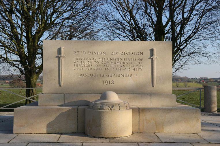 Het monument voor de Amerikaanse soldaten in Kemmel.
