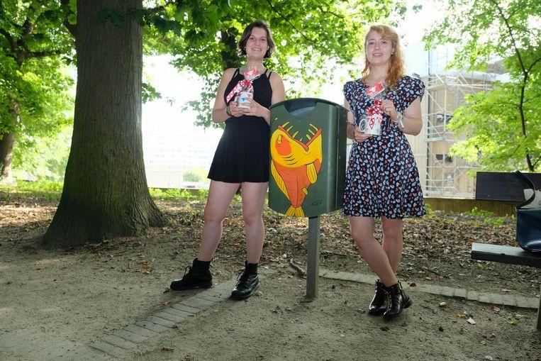 Ems Verhaert en Eef Ceulemans hebben hun artistiek talent aan het werk gezet.