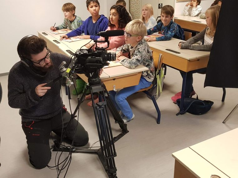 Er waren onder meer opnames in freinetschool De Baai.