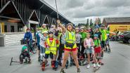 Lightversie van Roller Bike Parade door mindere weer