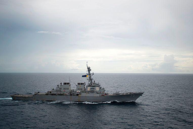 De Amerikaanse torpedobootjager USS Decatur.
