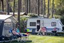 Camping Zuid Ginkel tijdens de zonnige paasdagen van 2019.