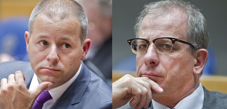 PVV-Kamerleden Marcial Hernandez en Wim Kortenoeven. Beeld ANP / Beeldbewerking Redactie