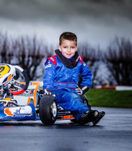 Kartcoureur Joël (6) wil naar de top: 'Op een recht stuk ga ik 80 kilometer per uur'