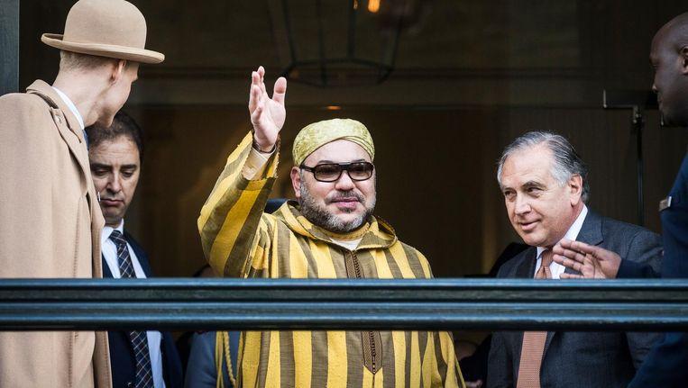 Koning Mohammed VI van Marokko verlaat Nederland na een meerdaags bezoek (2016) Beeld anp