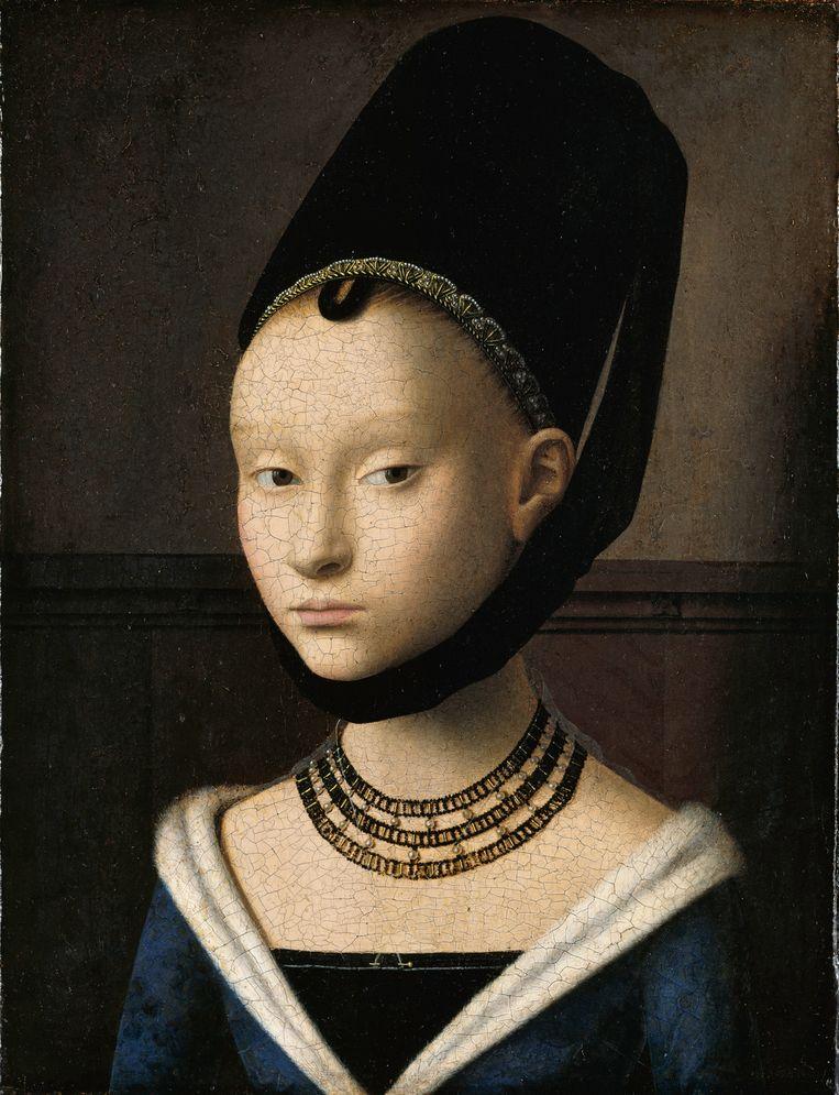 Petrus Christus, Portret van een meisje, circa 1470. Beeld Google Art Project / Gemälde