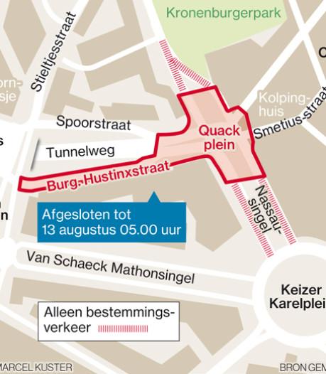 Nijmegen moet drie weken afzien rond opengebroken Quackplein