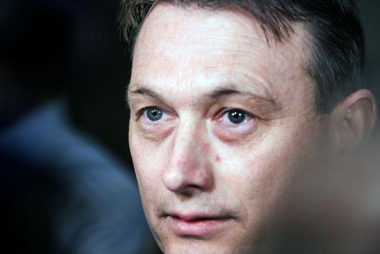 Halbe Zijlstra na zijn aftreden in de gang van het Tweede Kamergebouw Beeld Maarten Hartman