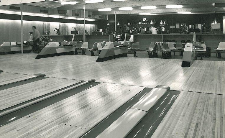 Wima Bowling in Schelle in de beginjaren. De caravanfabriek werd omgebouwd tot een bescheiden bowlingzaal.