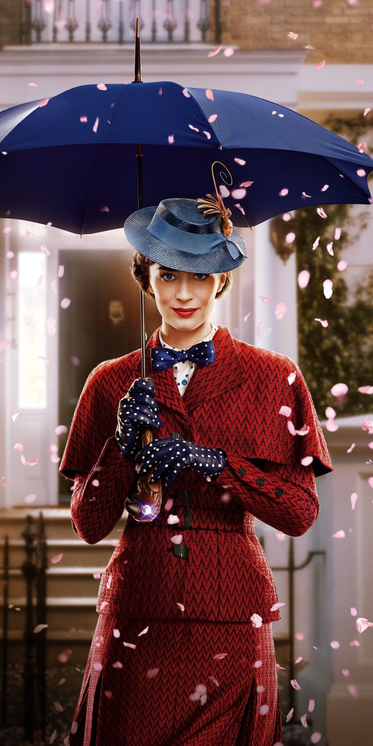 De vliegende paraplu is, naast haar bodemloze tas, één van Poppins' superkrachten.