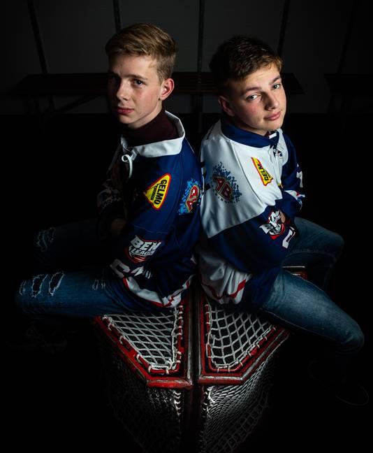 Peter Thijssen en Casper Lepoutre van Nijmegen Devils staan voor hun vuurdoop in de BeNe-League.