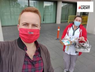 PVDA Sint-Truiden schenkt cake aan zorgverleners van Sint-Trudo