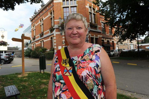 Burgemeester Marleen Mertens (CD&V).