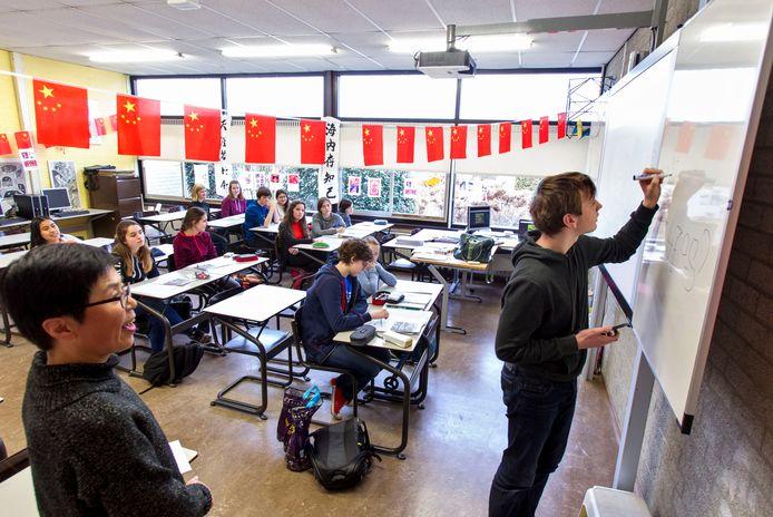 Chinese les op het Stedelijk college Eindhoven (archieffoto).