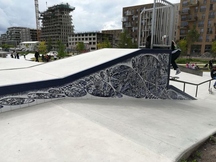 De tableaus op het grootste skatepark van Nederland.