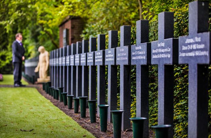 Het Stijkelmonument in Den Haag Begraafplaats Westduin.