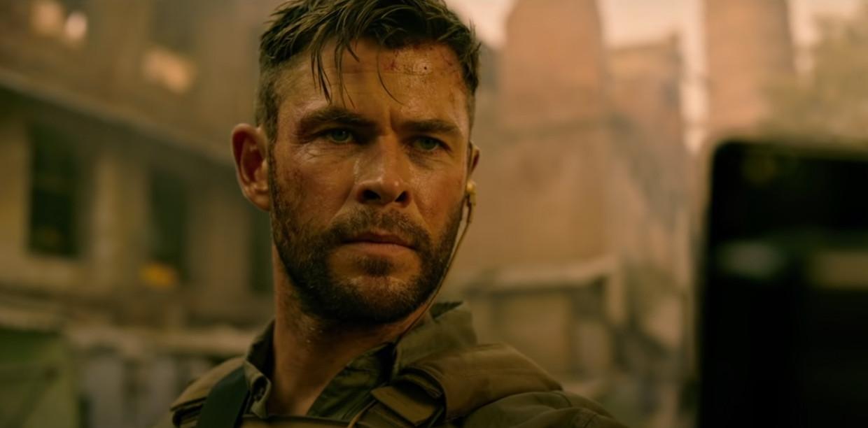 Chris Hemsworth in 'Extraction' Beeld Netflix