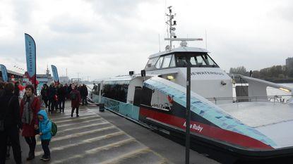 Elk half uur ferry naar Antwerpen