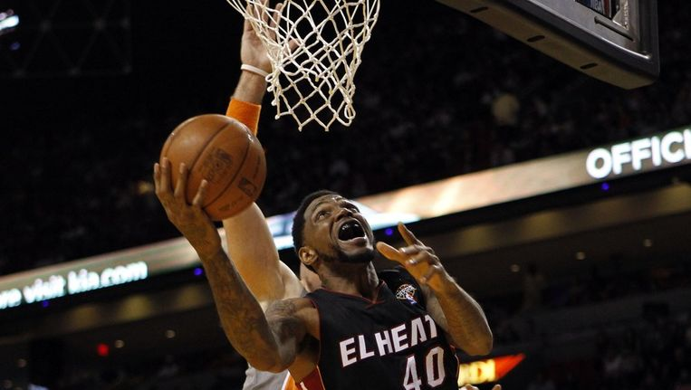 Udonis Haslem van Miami Heat, gisteren. Beeld reuters