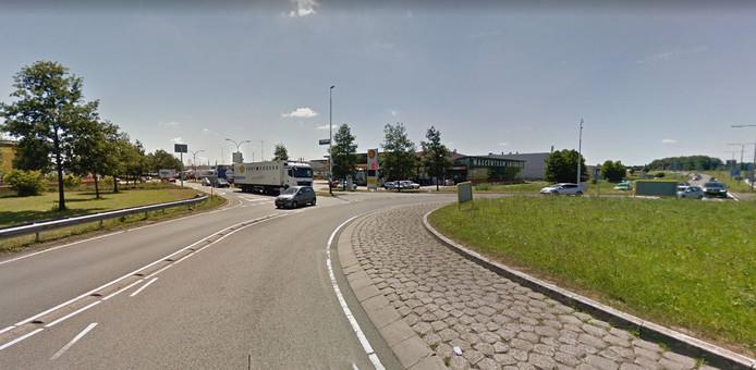 Rotonde bij bedrijventerrein Ruyven.