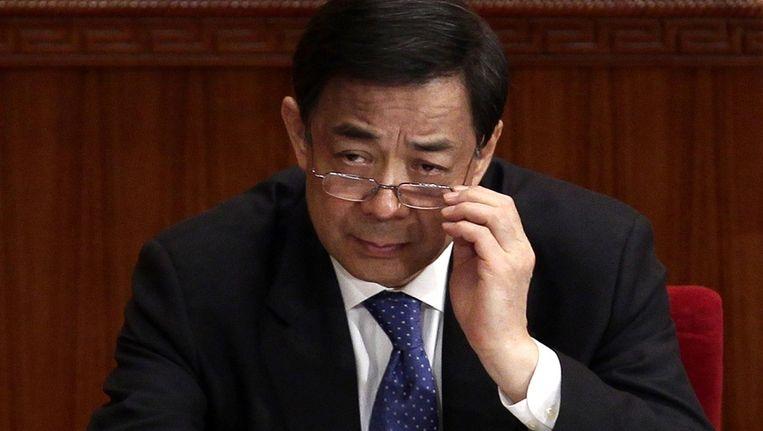 Bo Xilai was tot vorig jaar partijleider in de stad en provincie Chongqing en werd gezien als een rijzende ster binnen de Communistische Partij. Beeld reuters