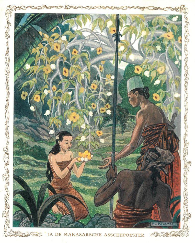Illustratie van oudoom Frits van Bemmel voor Tjoklat, 1937 Beeld null