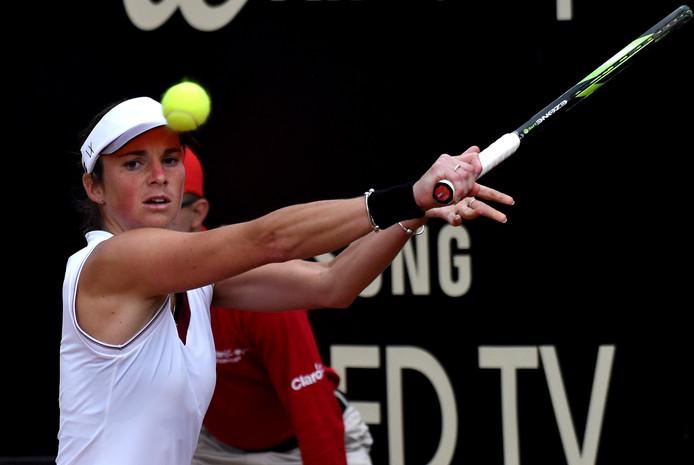 Bibiane Schoofs op het WTA-toernooi van Bogotá.