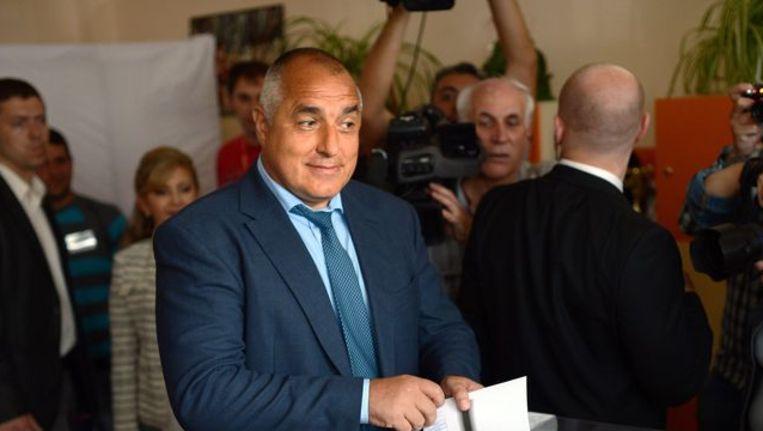 Partijleider van de centrumrechtse GERB, Bojko Borisov Beeld afp