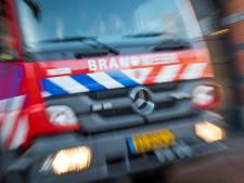 Grote brand door gaslek in Krimpen aan de Lek