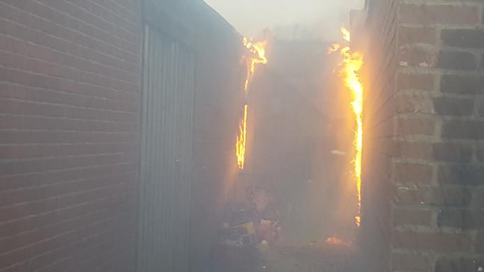 De brand aan de Trompetstraat in Nijmegen.