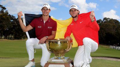 """Pieters en Detry winnen als eerste Belgen ooit World Cup of Golf in Melbourne: """"Droom die uitkomt"""""""