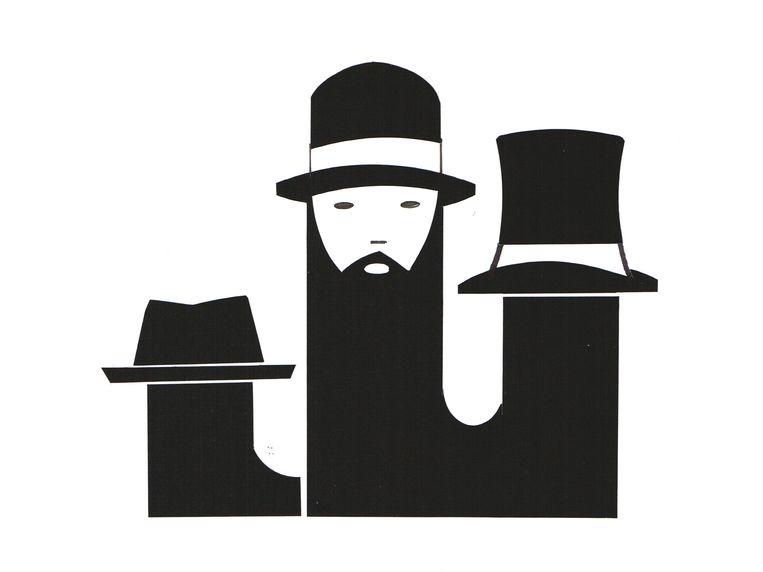 Porkpie - Bolhoed - Hoge hoed Beeld Piet Paris