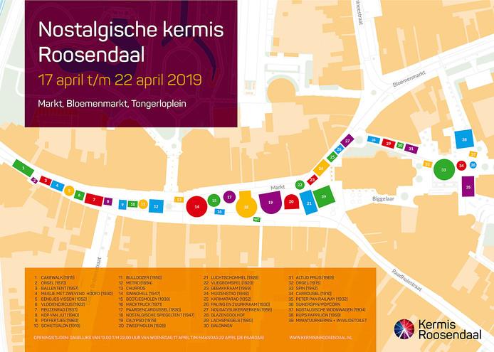 Van woensdag 17 april tot en met maandag 22 april loopt er een lang lint met antieke attracties over de Markt, de Bloemenmarkt en het Tongerloplein.