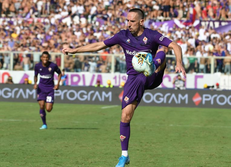 Ribéry in het shirt van Fiorentina.