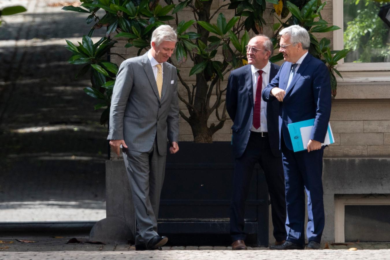 Les informateurs royaux chez le roi Philippe, le 1er juillet dernier