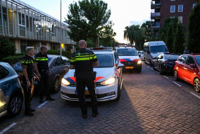 De politie rukte met meerdere eenheden uit.