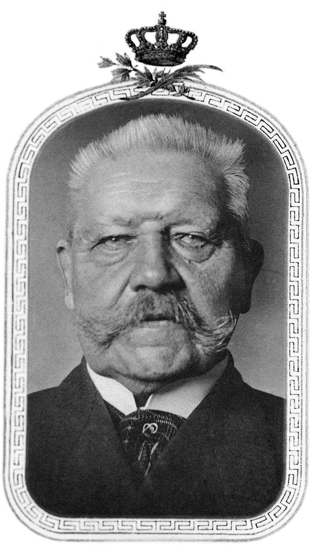Paul von Hindenburg (1847-1934), de tweede president van de Weimarrepubliek, werd vereerd als 'Ersatz-Kaiser'.  Beeld Getty Images