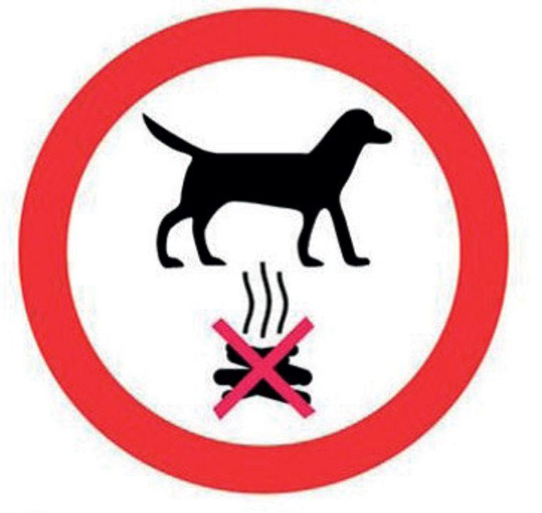 Een van de affichebeelden in de strijd tegen hondenpoep.