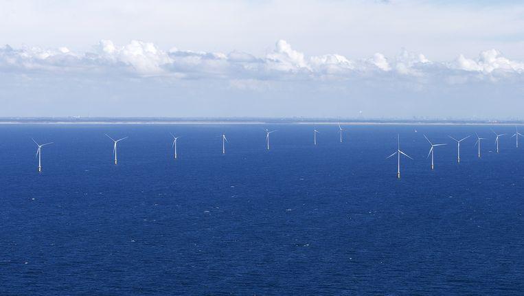 Windmolenpark in de Noordzee voor Egmond aan Zee. Beeld ANP