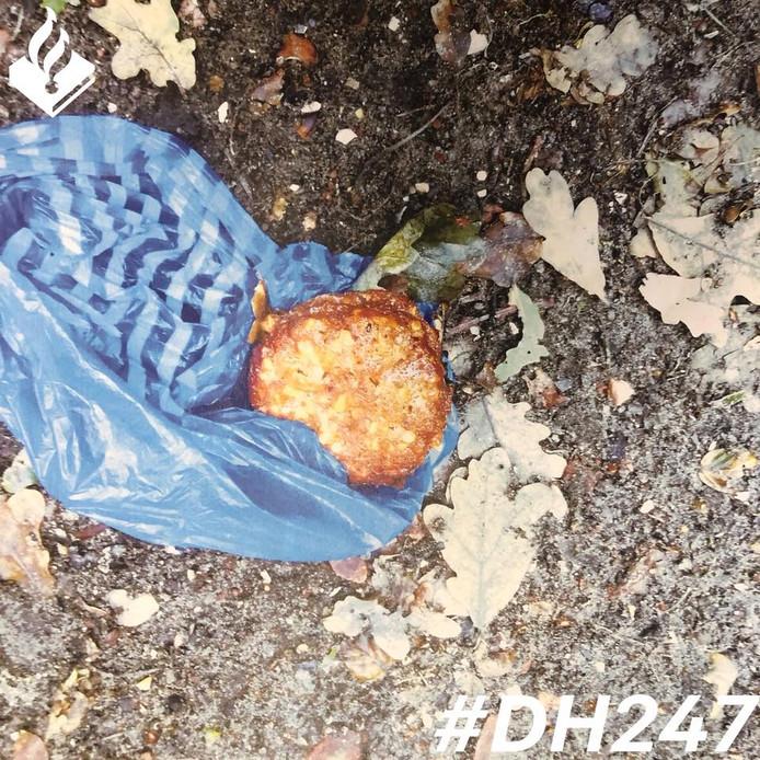 In het natuurgebied werd vanmiddag een gebakken spons aangetroffen