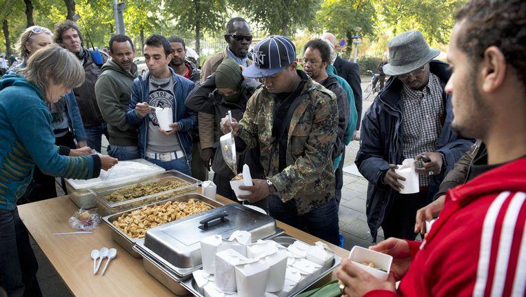 'Mensen die de Vluchtkerkgroep of andere benarde asielzoekers bijstaan mogen erop rekenen dat hun gangen worden nagegaan.' Beeld anp