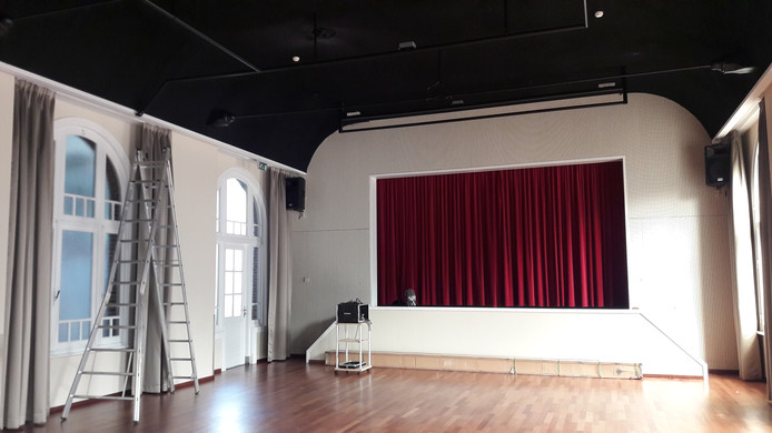 De Patronaat-zaal waarin ook de films vertoond worden