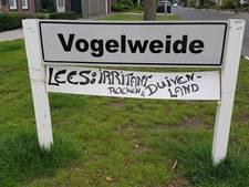Bewonersbordje in wijk Vogelweide in Deurne wordt deze week verwijderd