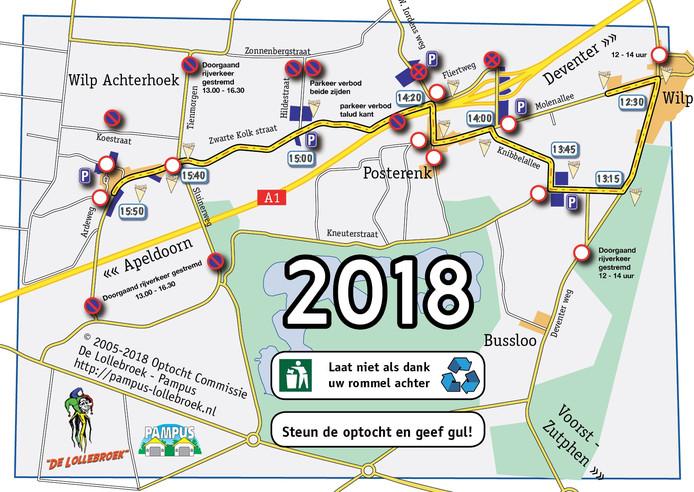Vanmiddag is de optocht van C.V. de Lollebroek in Broekersgat (Wilp-Achterhoek).
