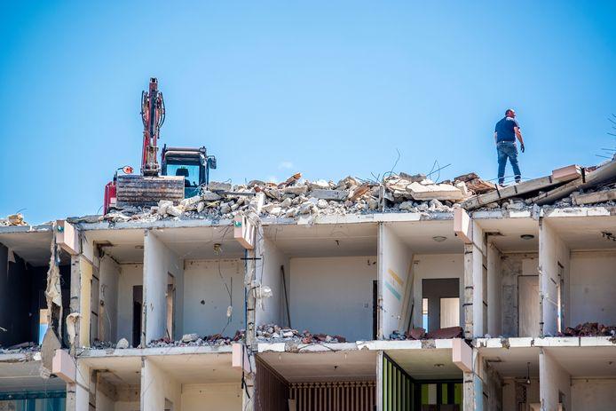 Een van de flats die is gesloopt in Palenstein.